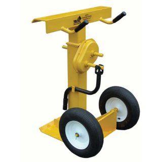 "IHS CJ BEAM PN Hand Crank Trailer Stabilizing Jack with 16"" Fully Pneumatic Wheel, 41""   55"" Height, 100000 lbs Capacity Floor Jacks Industrial & Scientific"