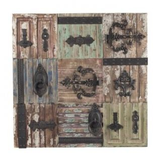 "Sterling Industries 129 1113 36"" Antique Door Hinge Decorative Wall Art, Heavily Distressed/Aged Red/Green/Brown/Natural Wood/Rust Finish: Home Improvement"