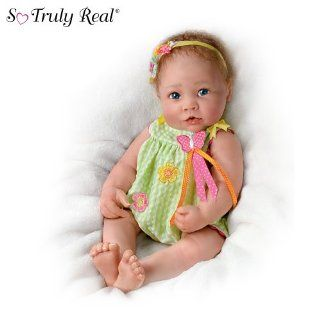 Touch Activated Lifelike Baby Doll: Butterfly Kisses by Ashton Drake: Toys & Games