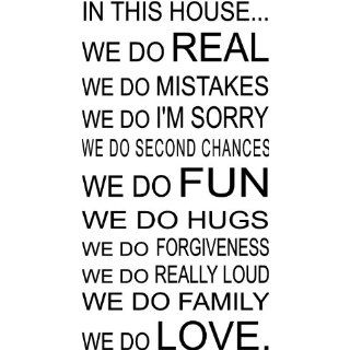IN THIS HOUSE WE DO LOVE QUOTE VINYL WALL DECAL WORDS: Home Improvement