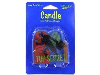 Top Secret Birthday Candle   Case of 144
