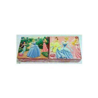 Disney Princess Cinderella, Aurora, Belle, Jasmine 50 Piece Mini Puzzles   Set of 2: Toys & Games