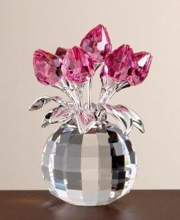 Swarovski Crystal Rose Tulips   Collectible Figurines