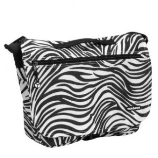 Yak Pak Basic Shoulder Bag   Black/White Zebra   614 151: Clothing