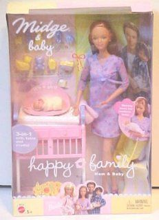 Barbie Midge & Baby Happy Family: Toys & Games