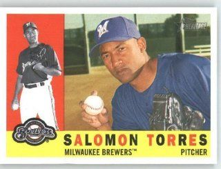 Salomon Torres   Milwaukee Brewers   2009 Topps Heritage Card # 156   MLB Trading Card: Sports Collectibles