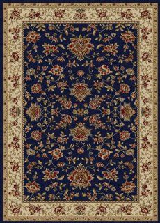 "Radici USA Como Oriental Flowers Navy 2'2"" x 7'7"" Runner Rug (159   Area Rug Accessories"