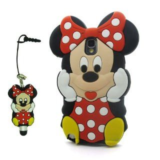 DD(TM) Red 3D Cartoon Cute Minnie Mouse Soft Silicone Case Skin Protective Cover for Samsung Galaxy Note 3 III N9006 with 3D Silicone Minnie Mouse Stylus Touch Pen: Home & Kitchen