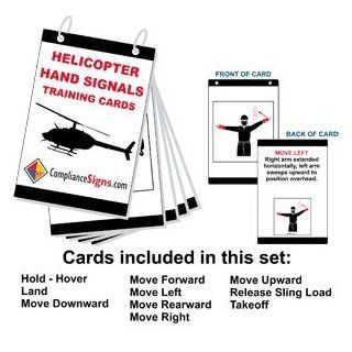 Helicopter Hand Signals Training Cards Card CRANE 168 Worksite: Office Products