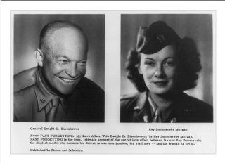 Historic Print (M): [Bust portraits of Dwight D. Eisenhower and Kay Summersby Morgan]   Eisenhower And Kate Summersby