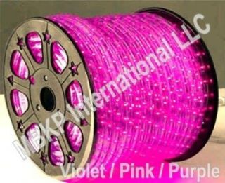 164 Feet PURPLE/VIOLET 2 Wire LED Rope Light Decorative Home, Bar, Christmas Lighting: Home Improvement