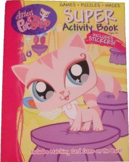 Littlest Pet Shop Coloring and Activity Book 144 Pages   Stickers Puzzles Games Mazes: Toys & Games