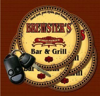 BREWSTER'S Family Name Bar & Grill Coasters: Kitchen & Dining