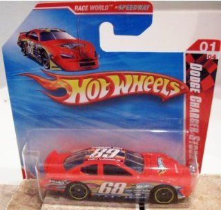 2010 Hot Wheels DODGE CHARGER STOCK CAR Race World Speedway 1 of 4, #167 RED short card Toys & Games