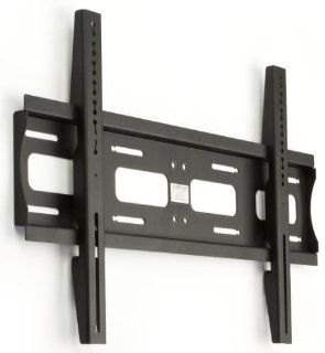 "TV Wall Mount 31 1/2""w x 8 3/8""h x 1""d Black Powder Coated Steel Flat Panel Plasma Display Accommodates 42""   55"" Screens Weighing less than 176 lbs.   LCD Monitor Rack Are VESA Compliant Electronics"