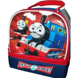 "Thomas the Train Dome Double Compartment School Lunch Box Kit "" Lets Race"": Toys & Games"