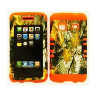 Leaves Camo Orange 2 in 1 Skin Hybrid Case Cover for Samsung Galaxy Prevail M820: Everything Else