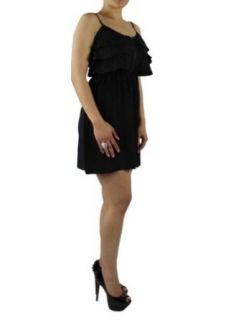 LnLClothing Short Ruffle Dress, Black, XXLarge at  Women�s Clothing store