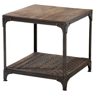 Stein World 12339 Cameron Metal Framed Wood Table   End Tables