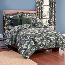 Browning Buckmark Camo Green Bedding by Kimlor