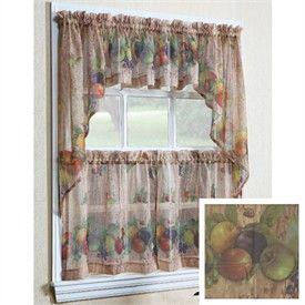 Vegetable Themed Kitchen Curtains Veggies Kitchen Curtain Set