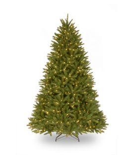7.5 ft. Feel Real Belmar Fir Hinged Pre Lit Christmas Tree   Christmas Trees