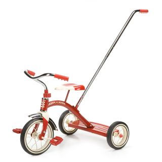 Radio Flyer Classic Tricycle Red with Push Handle   10 in.   Pedal Toys