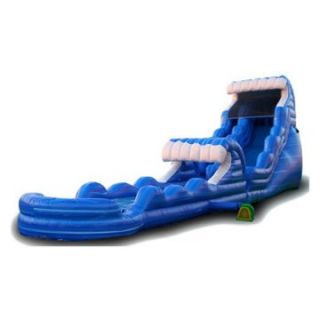 EZ Inflatables 22 ft. Tsunami Blue Marble Water Slide   Commercial Inflatables
