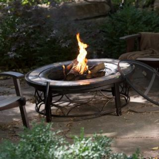 Red Ember Brighton 40 in. Round Slate Top Fire Pit Table   Fire Pits