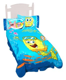 Sponge Bob Swimming Around 62 x90 Blanket   Boys Bedding