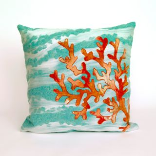 Liora Manne Coral Wave Indoor / Outdoor Throw Pillow   Decorative Pillows
