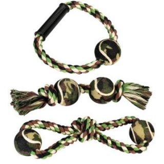 Grriggles Camo Rope Dog Pull and Chew Toy   Pull and Fetch Dog Toys