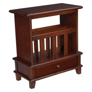 Hammary Chairsides Rectangular Chairside Table with Magazine Rack   Medium Cherry   End Tables