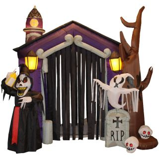 BZB Goods 8.5 Foot Inflatable Haunted House   Outdoor Decor