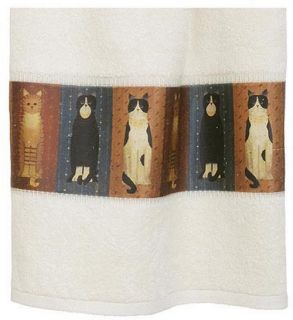 Blonder Home Country Cats by Linda Spivey 98% Cotton Bath Towel   Bath Towels