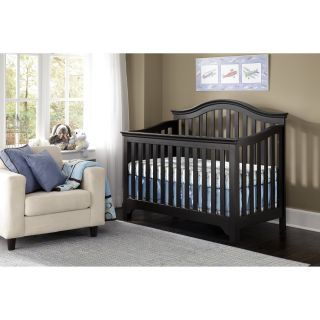 Creations Baby Mesa 4 in 1 Convertible Crib   Black   Cribs