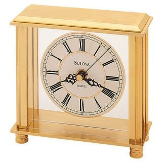 Cheryl Traditional Desktop Clock by Bulova   Desktop Clocks
