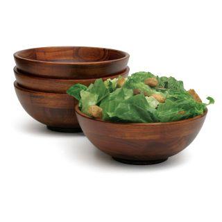 Lipper Cherry Individual Salad Bowls   Set of 4   Salad & Dessert Plates