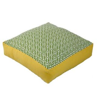 Jiti Maze 20 x 20 Green / Yellow Box Outdoor Pillow   Outdoor Pillows