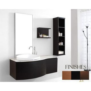 Virtu USA Isabelle 48 in. Single Sink Bathroom Vanity Set   Espresso   Single Sink Bathroom Vanities