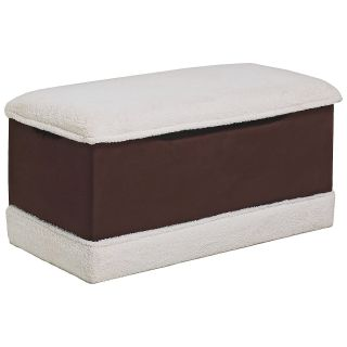 Two Tone Fabric Deluxe Toy Box Bench   Toy Storage