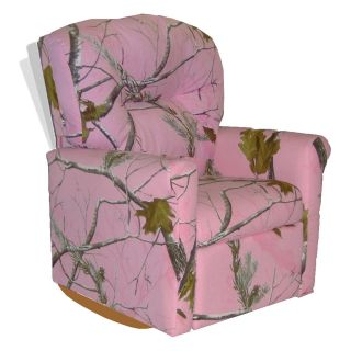 Dozydotes Contemporary Rocker Recliner   Camouflage Pink   Tree Pattern   Kids Recliners