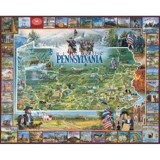 White Mountain Historic Pennsylvania 1000 Piece Jigsaw Puzzle   Jigsaw Puzzles