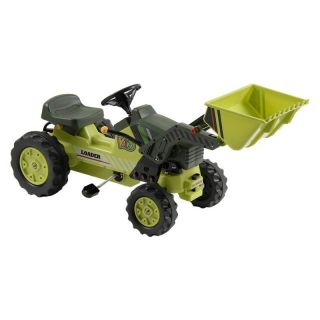Kalee Pedal Tractor with Loader Riding Toy   Green   Pedal Toys