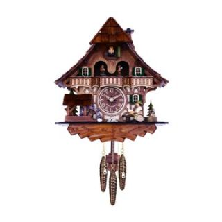 River City Clocks 830 13QM Dancers with Waterwheel & Beer Drinker Musical Black Forest Cuckoo Clock   Cuckoo Clocks