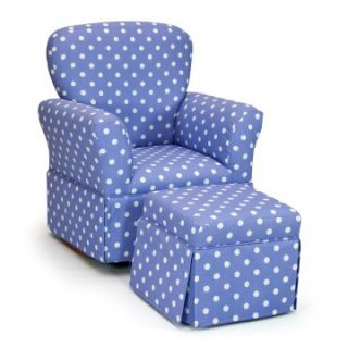 Polka Dots Lilac & White Skirted Rocker and Ottoman   Kids Rocking Chairs