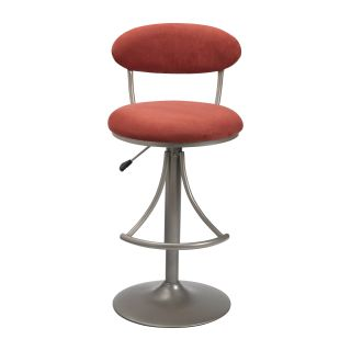 Hillsdale Venus Adjustable Height Swivel Bar Stool   Flame Suede Seat   Bar Stools