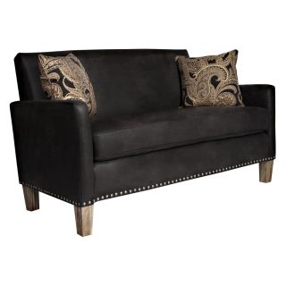 angelo:HOME Sutton Charcoal Pearl Sofa with Antique Block Legs   Sofas