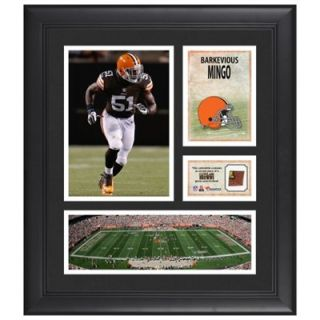 Barkevious Mingo Cleveland Browns Framed 15 x 17 Collage with Game Used Football