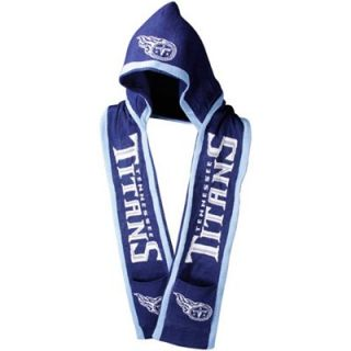 Tennessee Titans Navy Blue Hooded Knit Scarf